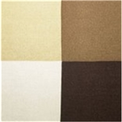 Silk Pocket Handkerchief - Four Quaters With Borders Of Opposite Colours - Brown
