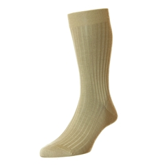 Pantherella Merino Wool Socks - Light Khaki