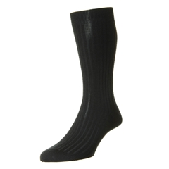 Pantherella Merino Wool Socks - Black