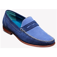Barker Shoes Style: William - Blue/Bluette Suede