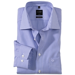 Olymp Modern Fit Shirt - Fine Blue Stripe