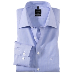 Olymp Modern Fit Shirt - Blue Pin Stripe