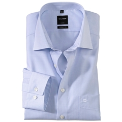 Olymp Modern Fit Shirt - Bleu Neat Check