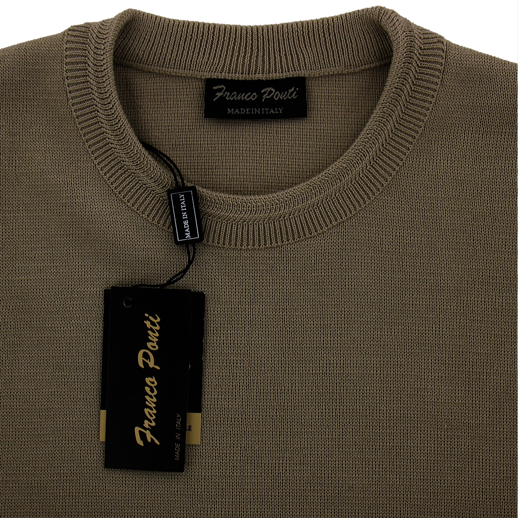 Franco Ponti Crew Neck Sweater - Taupe