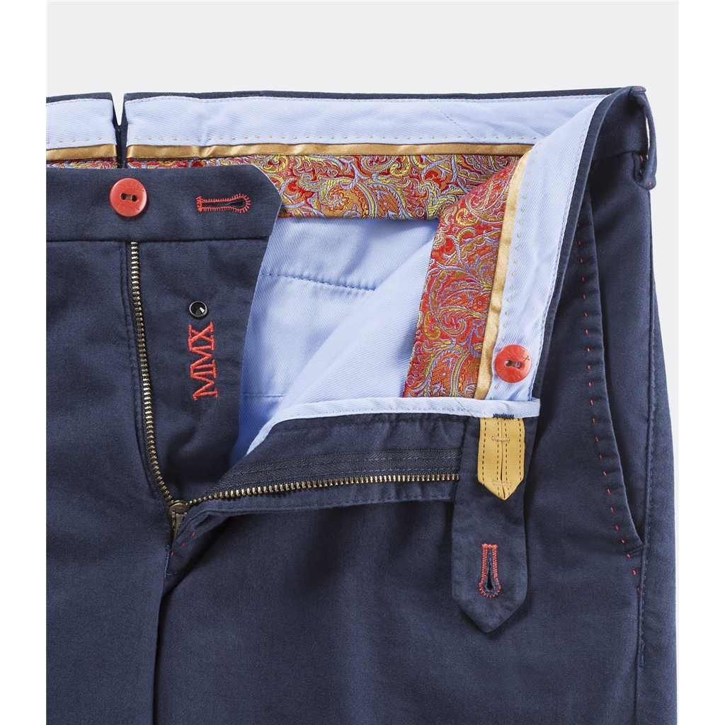 New 2016 Meyer MMX Trousers - Navy Blue Kapoc Cotton