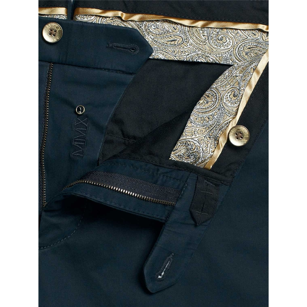 Meyer MMX Trousers - Navy Cotton & Silk - New 2015