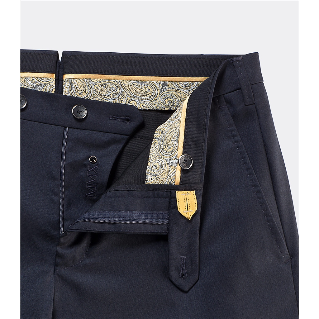 New 2016 Meyer MMX Trousers - Summer Tasmanian Silk Super 150 - Loro Piana - Navy