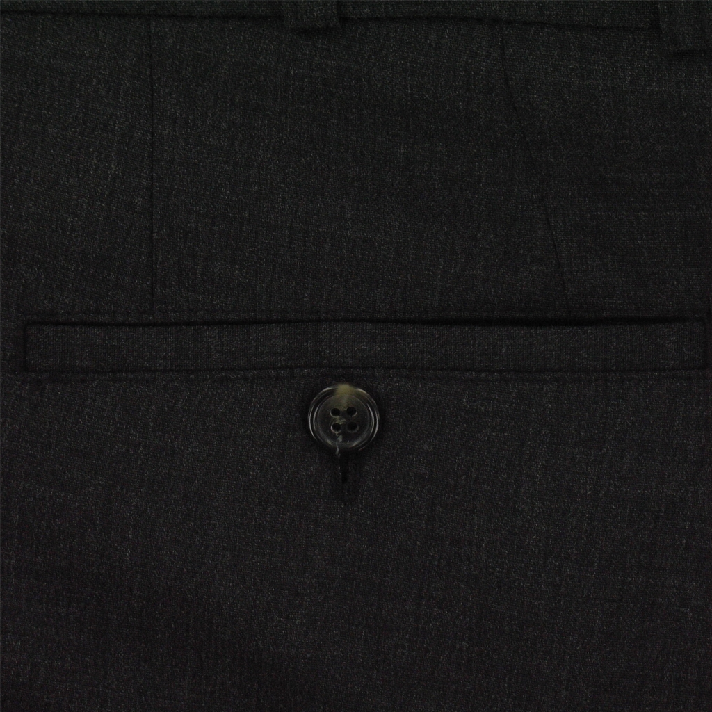Club of Comfort Trouser - Medium Weight Wool Mix - Charcoal