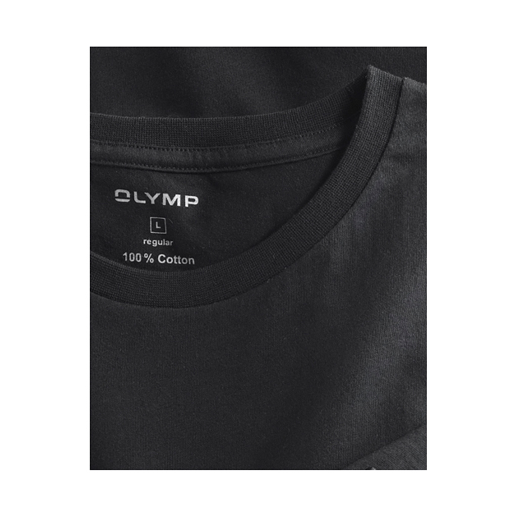 Olymp T-shirt Black Crew Neck - Double Pack - 0700 12 68