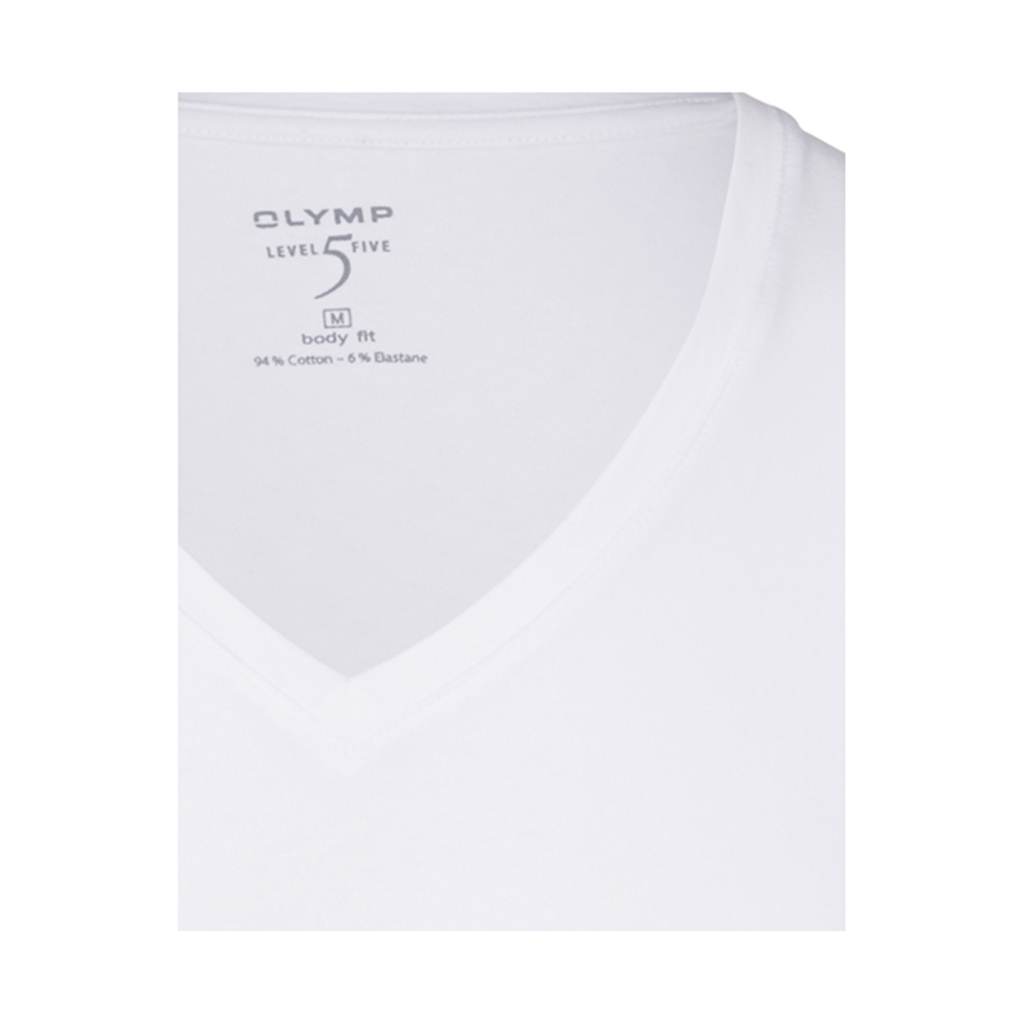 Olymp Level Five V-Neck Shirt - White - 0801 12 00
