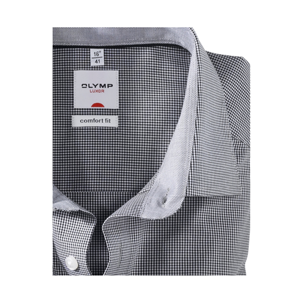 Olymp Comfort Fit Shirt - Black Gingham Check