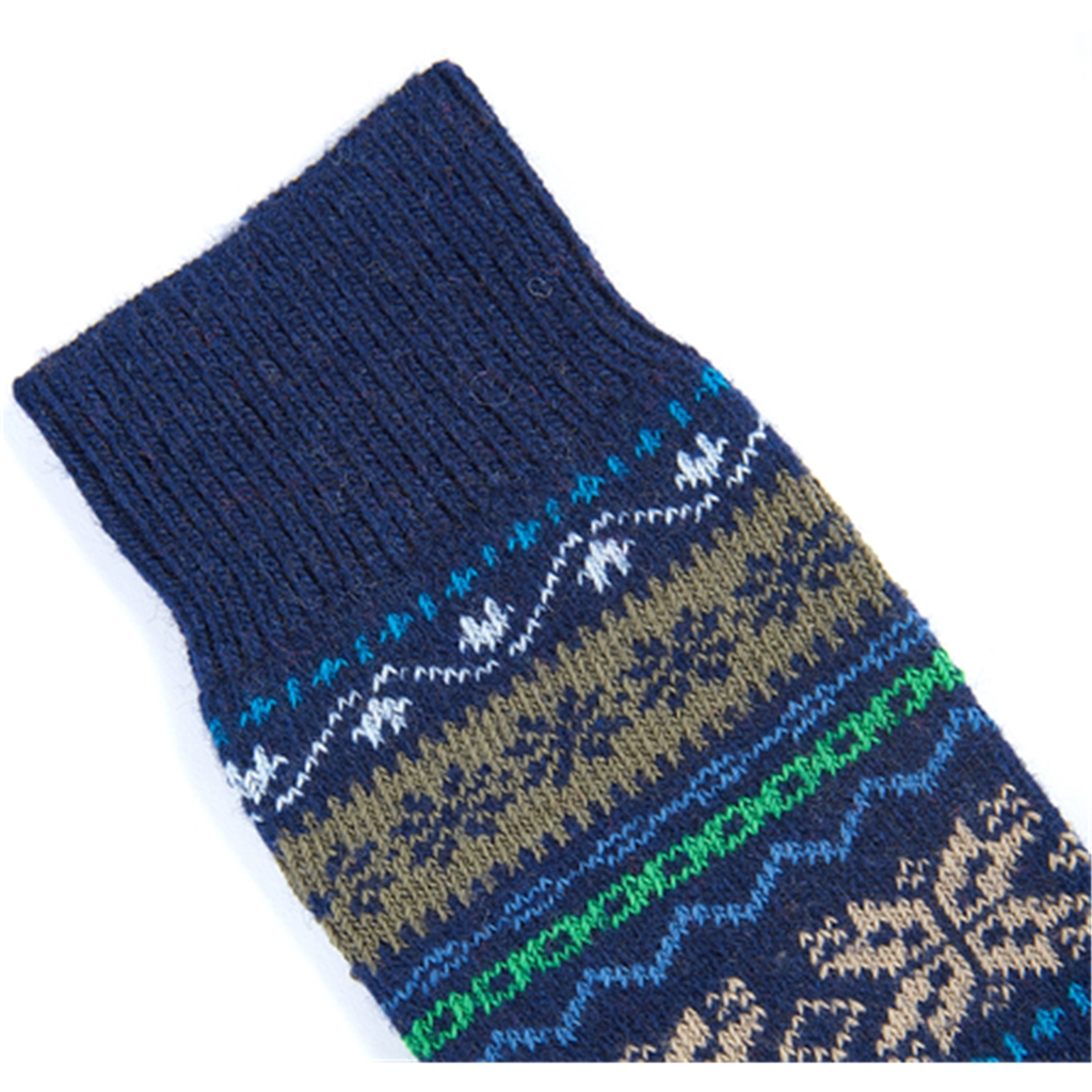 Barbour Alston Sock - Navy/Fairisle
