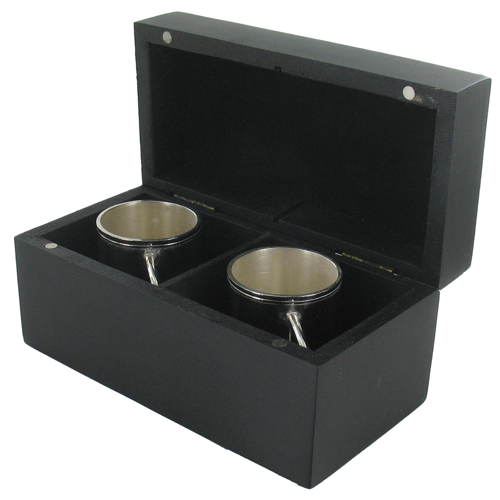 Two Excellent Shot Cup Delivered in a Wood Box - Mens Gift