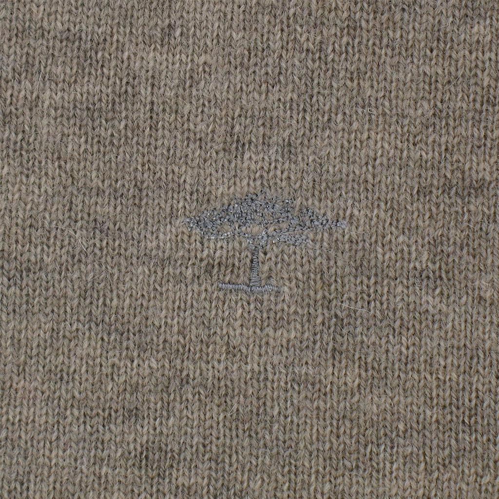Fynch-Hatton Wool & Cotton Crew Neck - Sand - Size 2XL Only