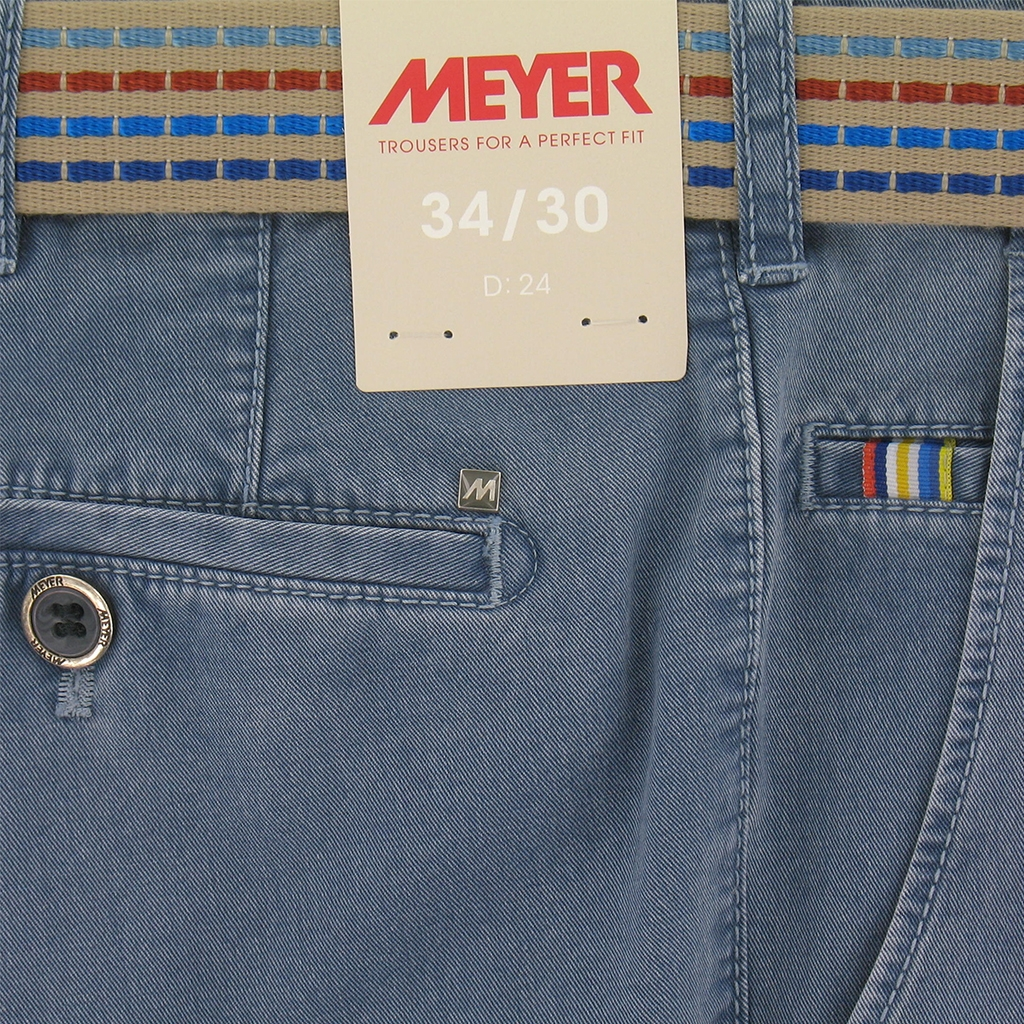 New 2016 Meyer Trouser - Blue Soft Twill Cotton Fade Out - Limited Edition