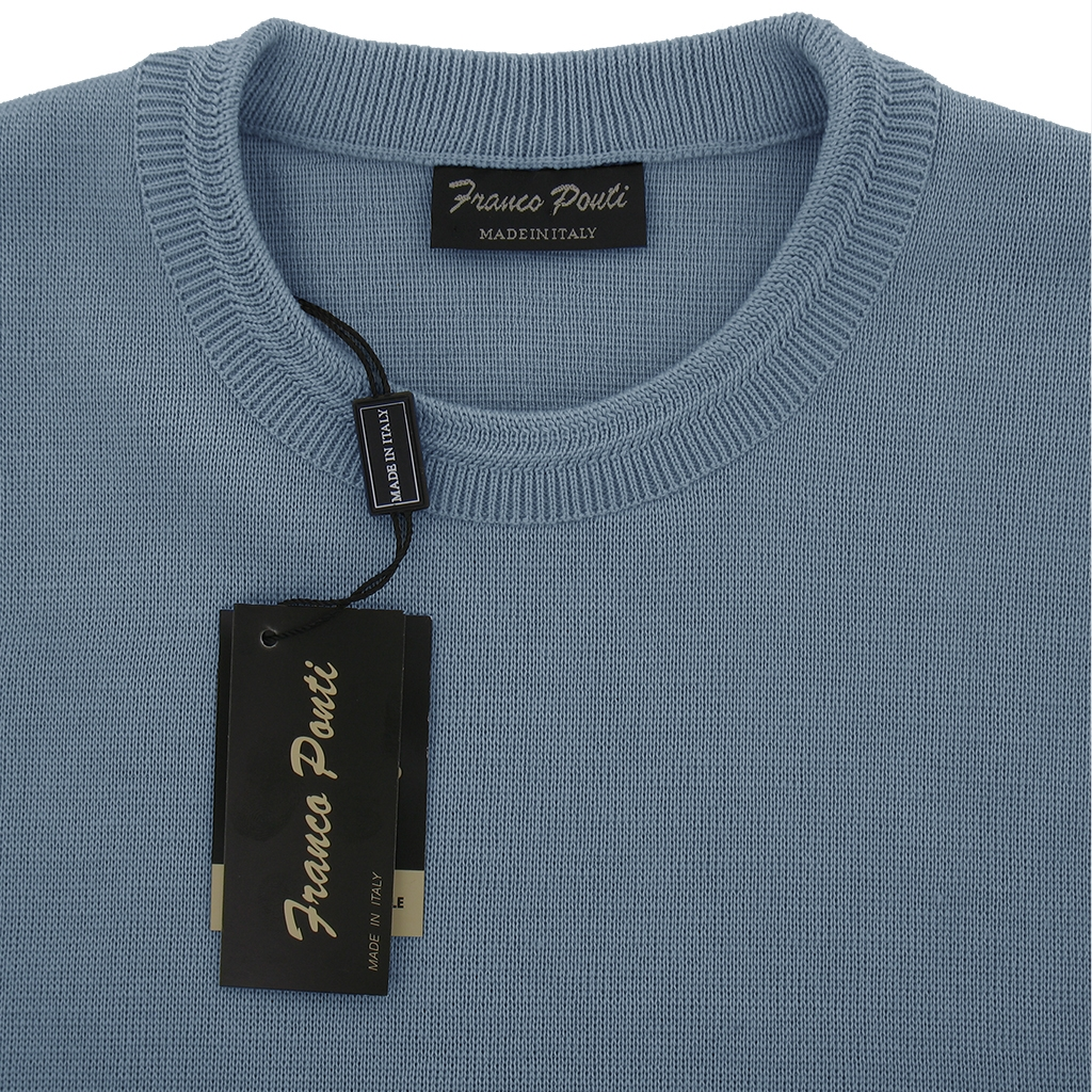 Franco Ponti Crew Neck Sweater -  Azure