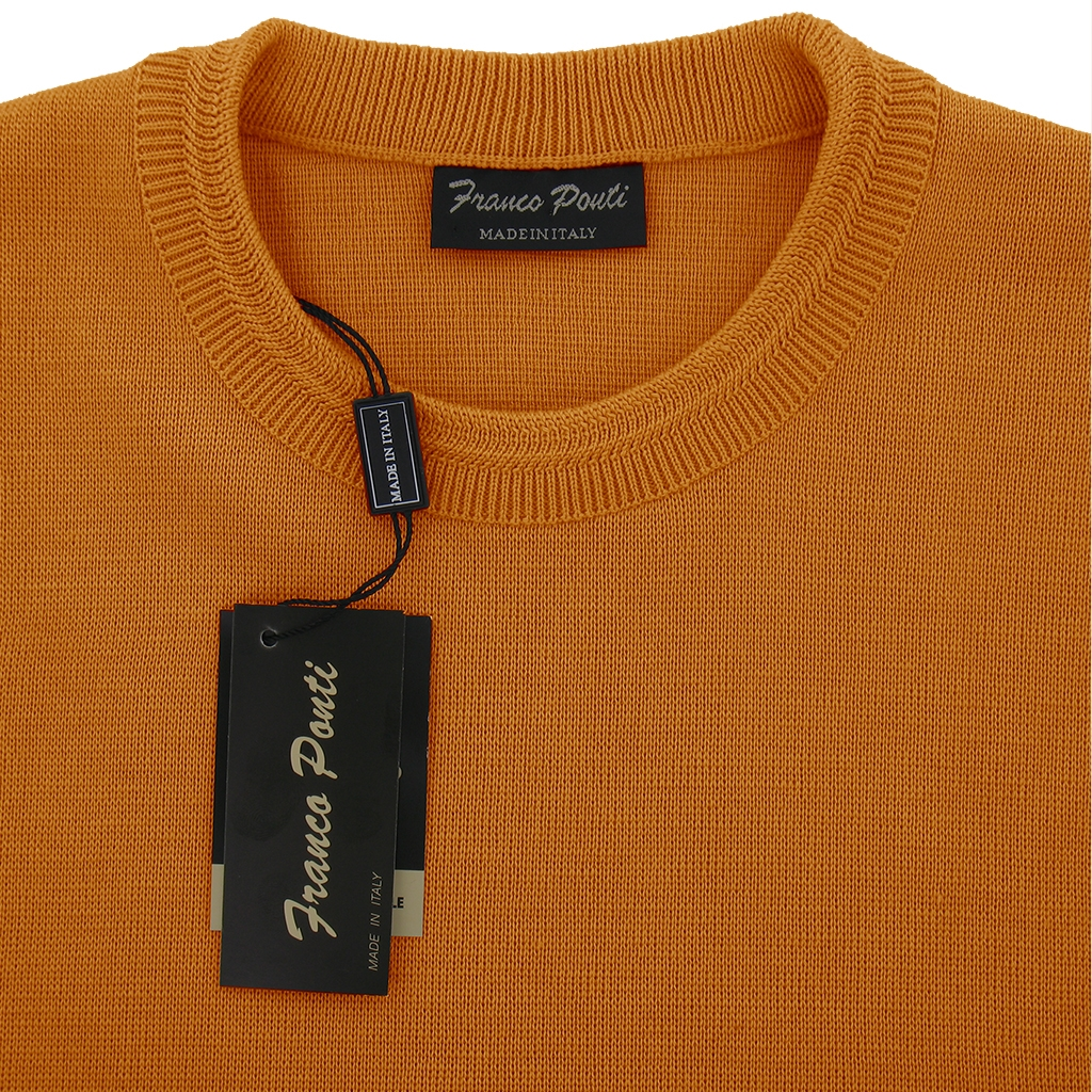 Franco Ponti Crew Neck Sweater -  Orange