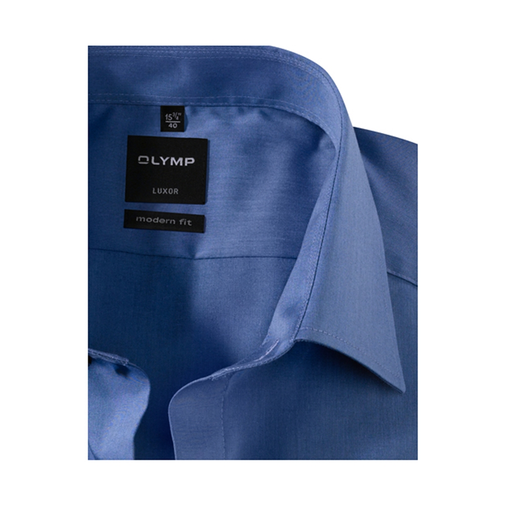 Olymp Modern Fit Shirt - Chambray Indigo - 0304 64 96