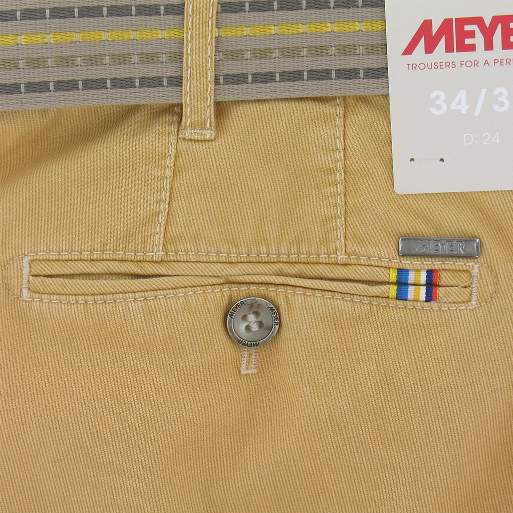 New May 2016 Meyer Textured Cotton Trouser - Yellow Gold - Limited Edition