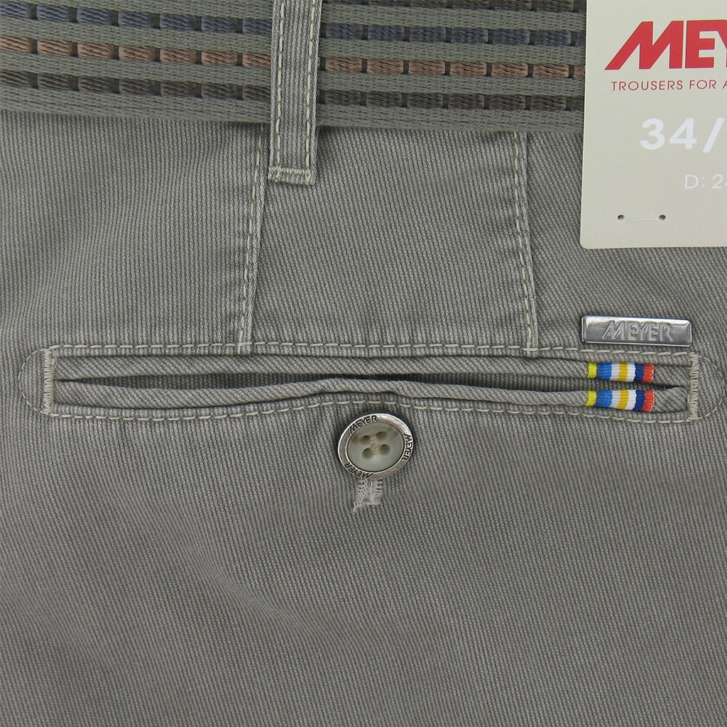 New May 2016 Meyer Textured Cotton Trouser - Mushroom - Limited Edition
