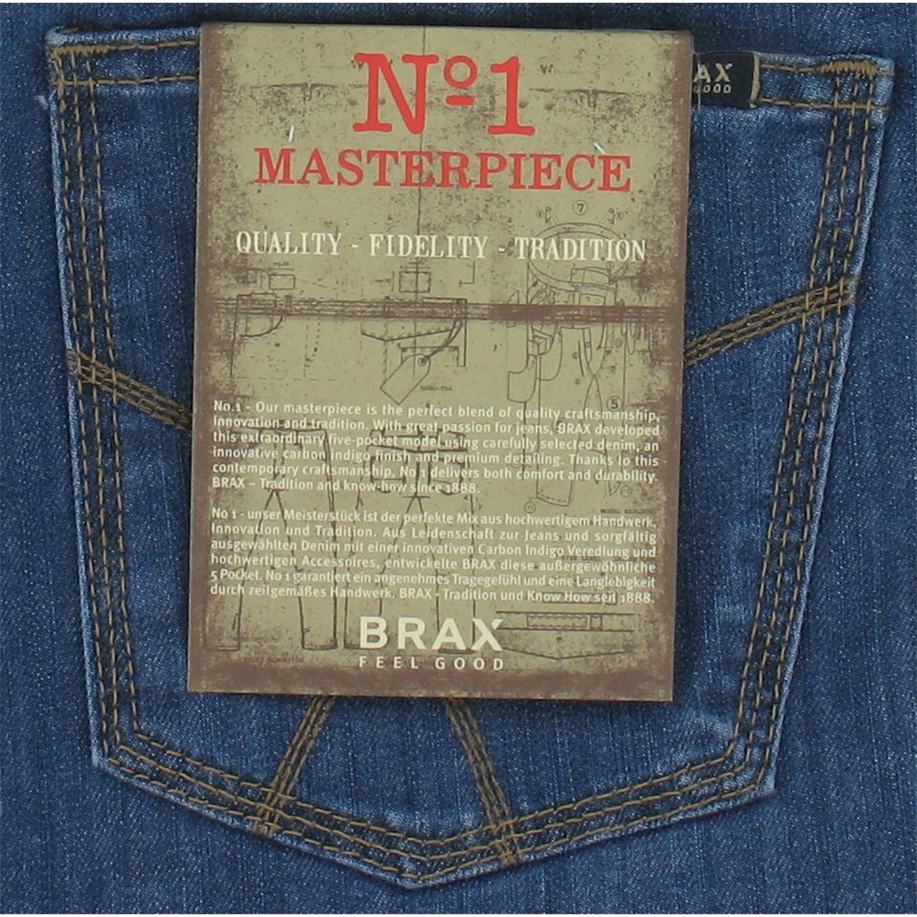 Brax Denim Jean - Authentic Ring Denim -  Light Blue Denim