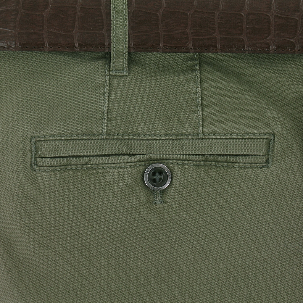 Meyer Trousers Green Luxury Cotton Trousers - Online Exclusive - Special Purchase