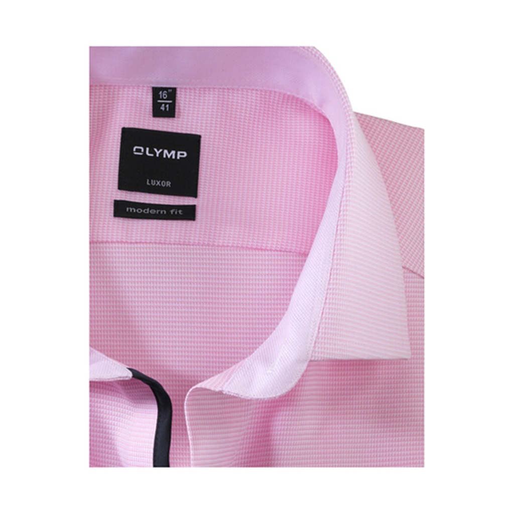 Olymp Modern Fit Gingham Shirt - Rose