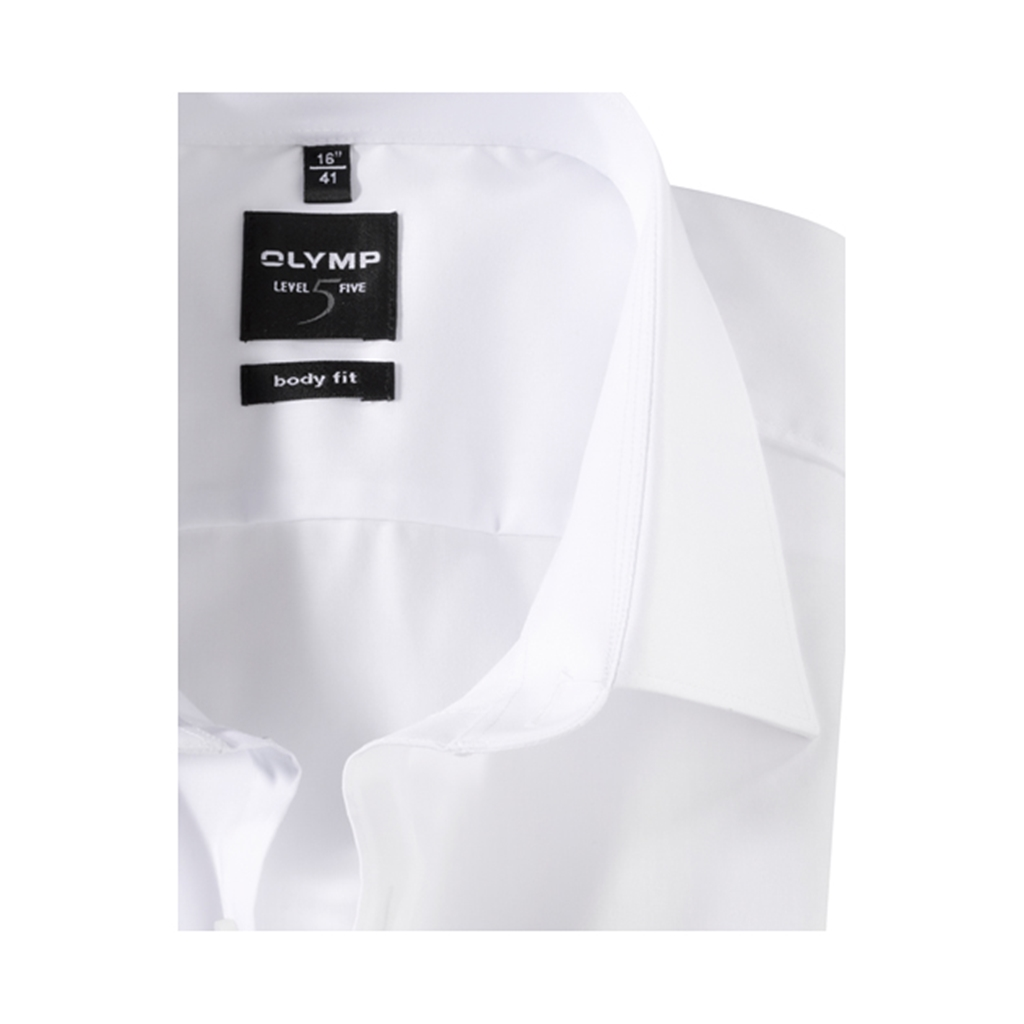 Olymp Level Five Body Fit Shirt - White - 6090 64 00