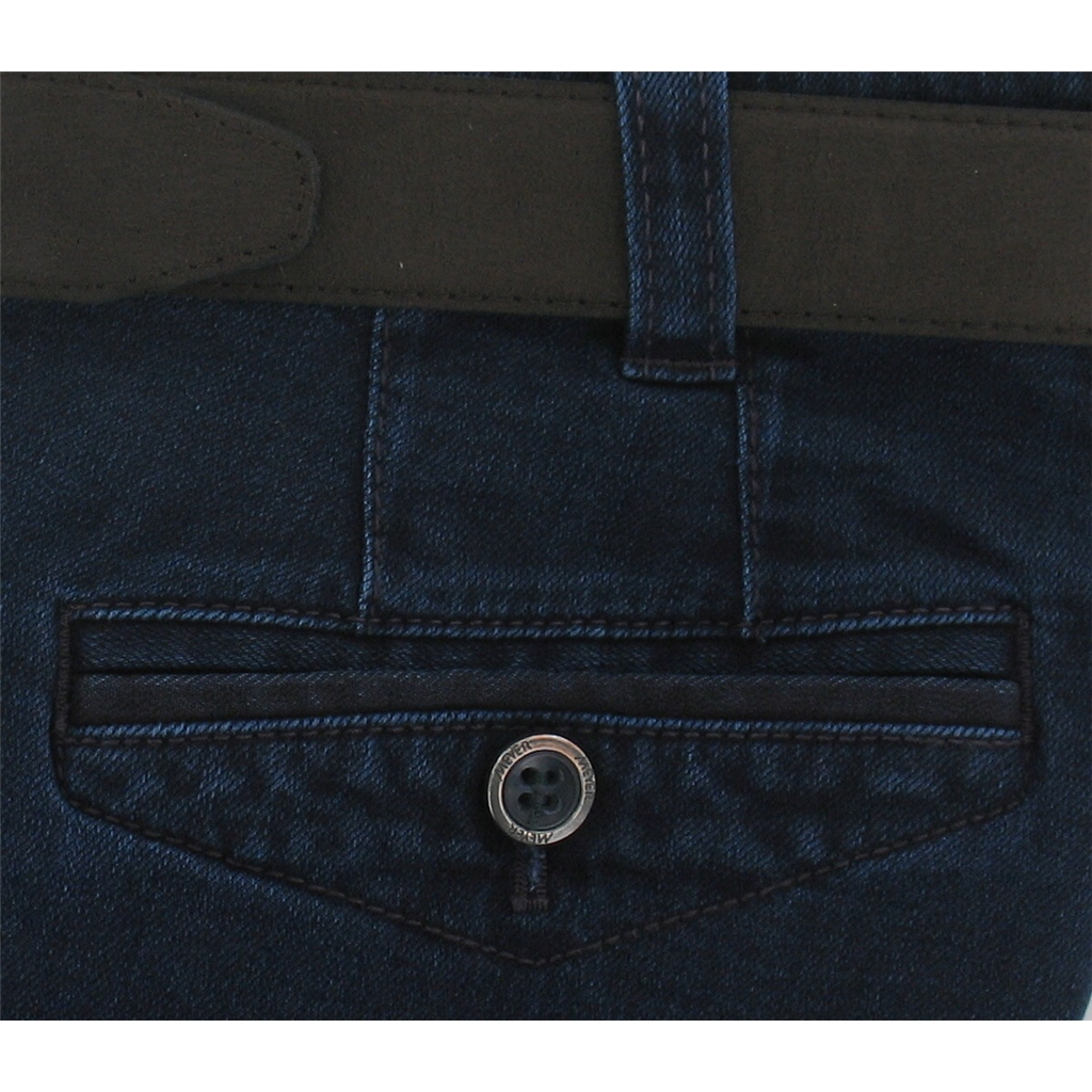 Autumn 2016 Meyer Trousers Navy Luxury Italian Denim - Online Exclusive