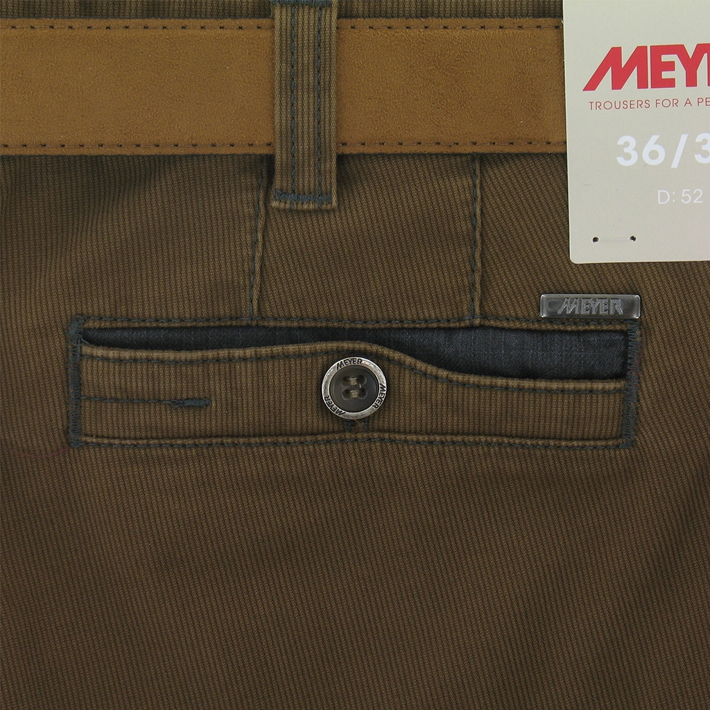 Meyer Trousers Luxury Winter Cotton - Tan - Style Diego