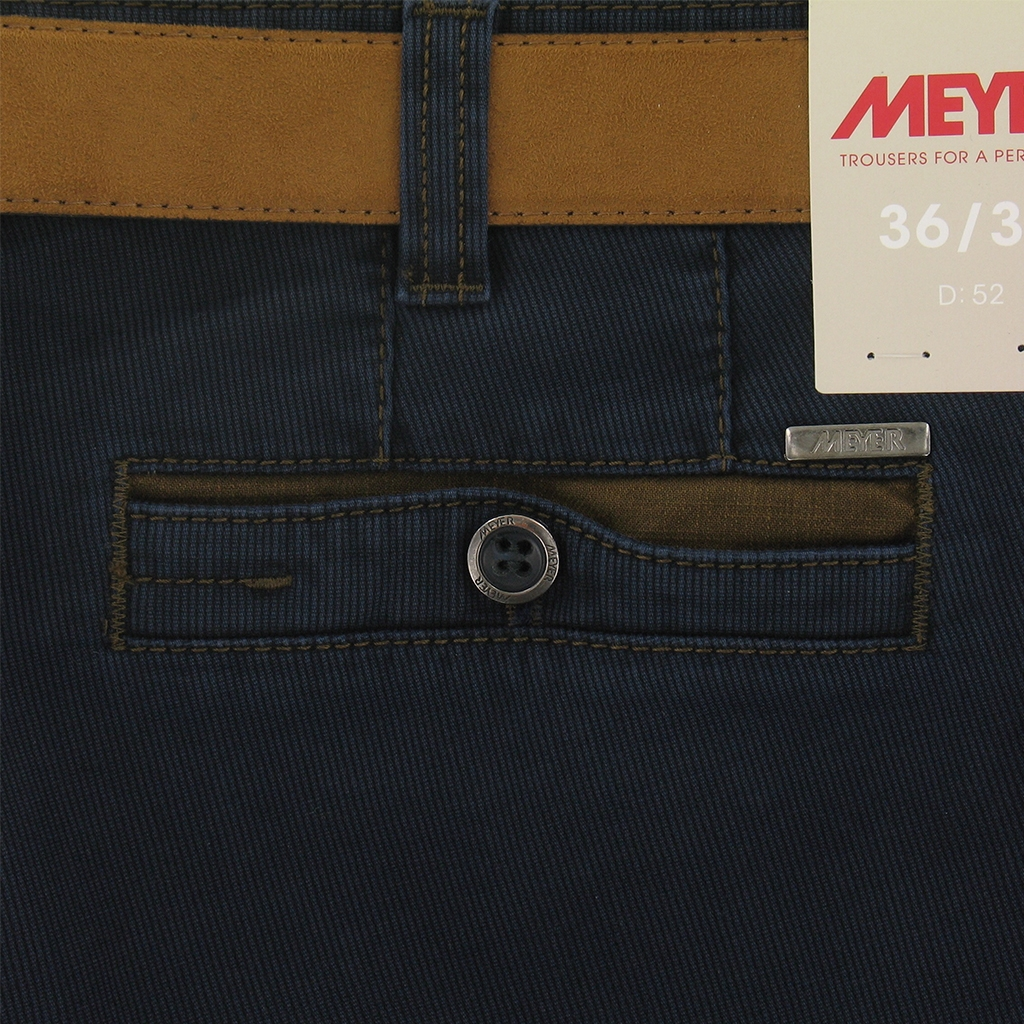 Autumn 2016 Meyer Trousers Fine Textured Cotton - Blue