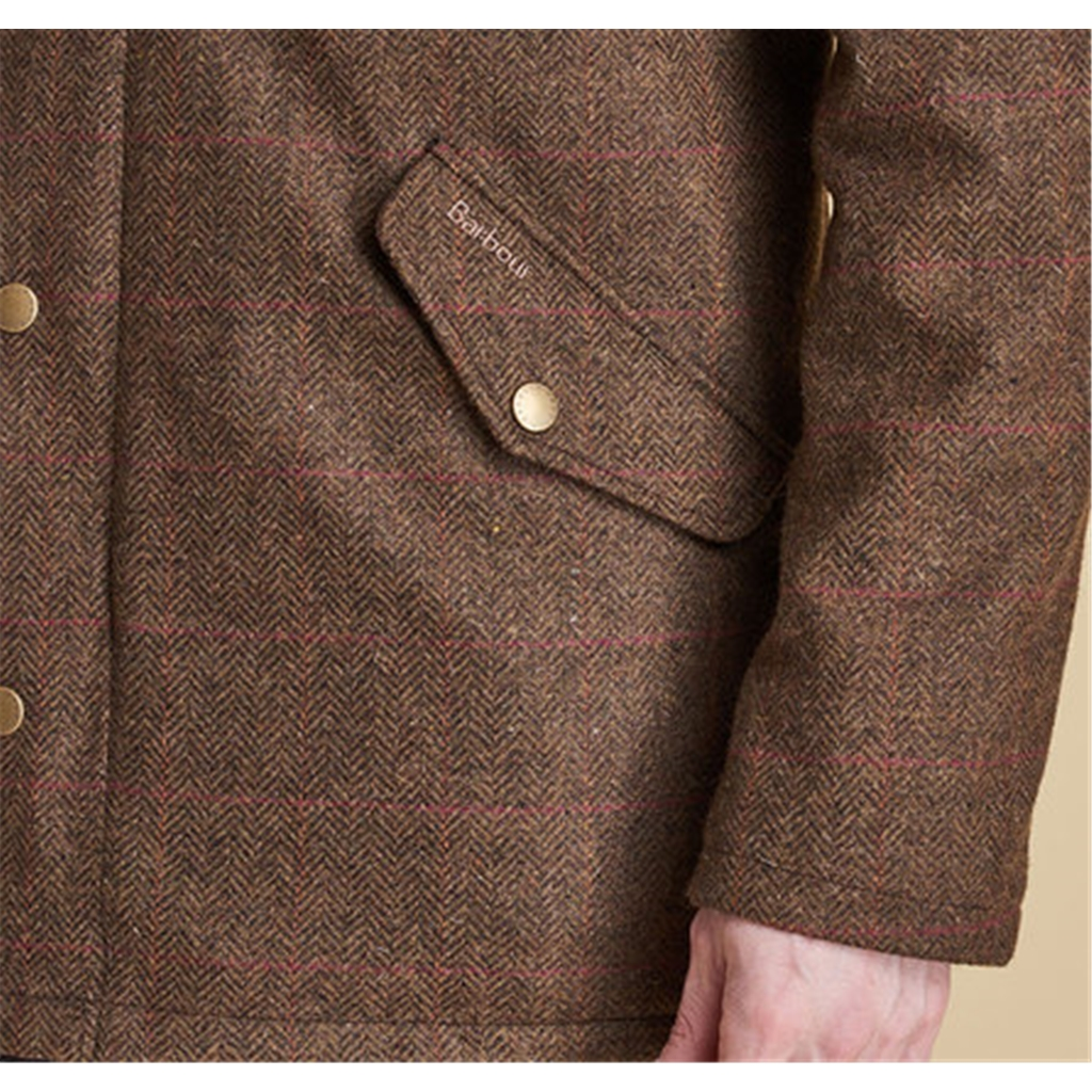 New Autumn 2016 Barbour CountryWear Wimbrel Wool Tweed Jacket - Olive/red