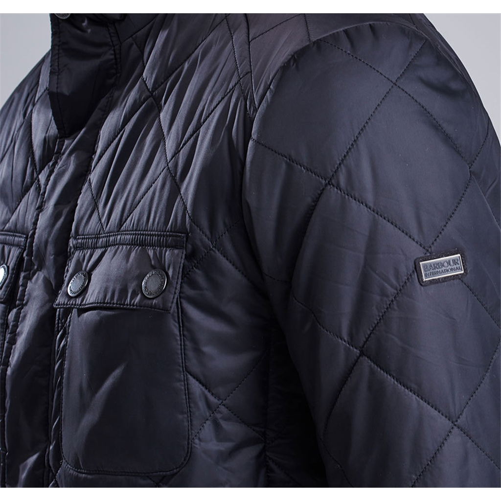 Barbour International Fairing Quilted Jacket - Black - Size XXL Only