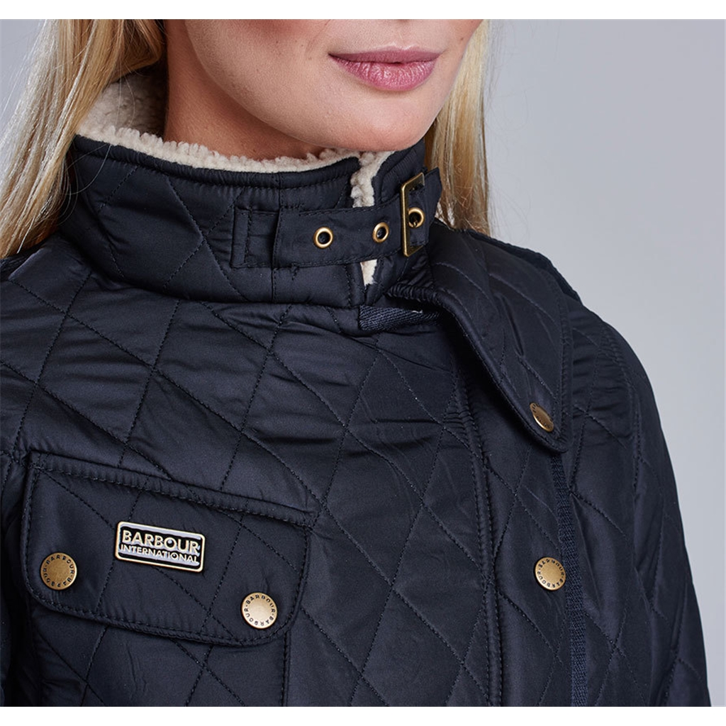 New Autumn 2016 Barbour International - Matlock Quilted Jacket - Black/Natural