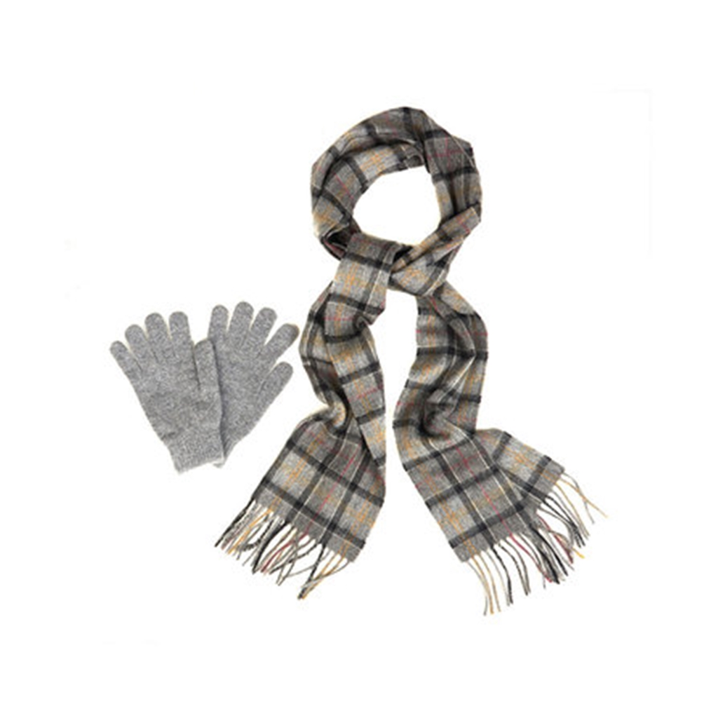 New Autumn 2016 Barbour Lifestyle Scarf & Glove Gift Box - Modern/Grey