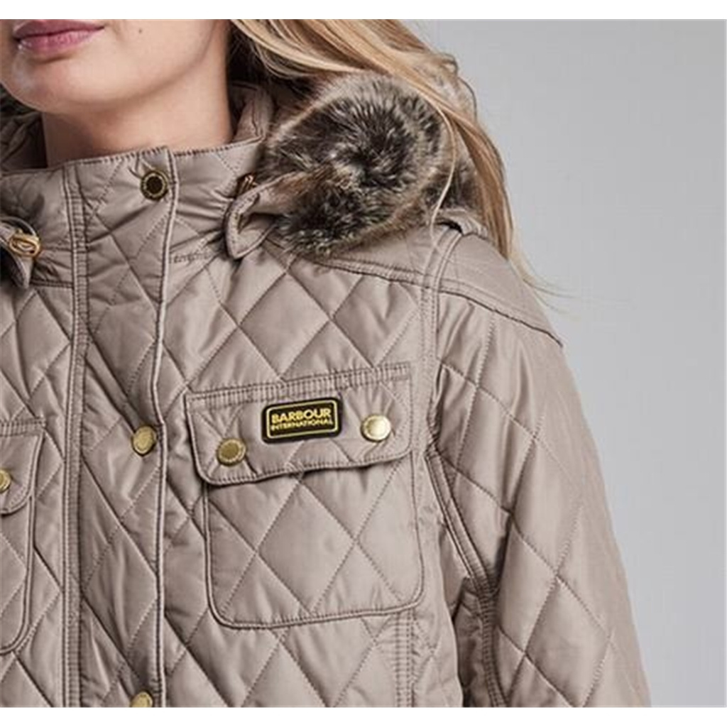 New Autumn 2016 Barbour International - Enduro Quilted Jacket - Taupe