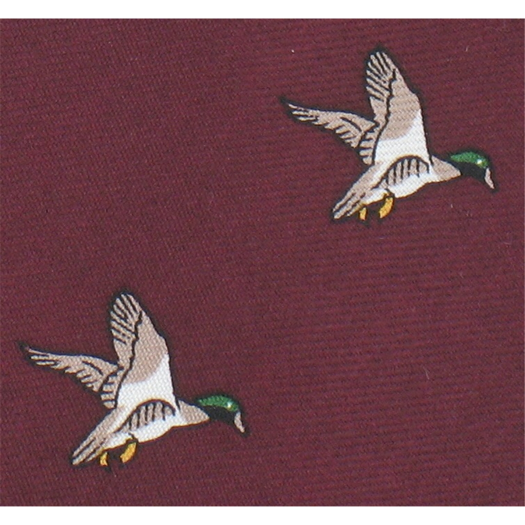 The Silk Tie Company - Wine Tie with Duck Design - 100% Silk