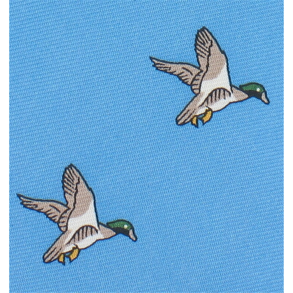 The Silk Tie Company - Sky Blue Tie with Duck Design - 100% Silk