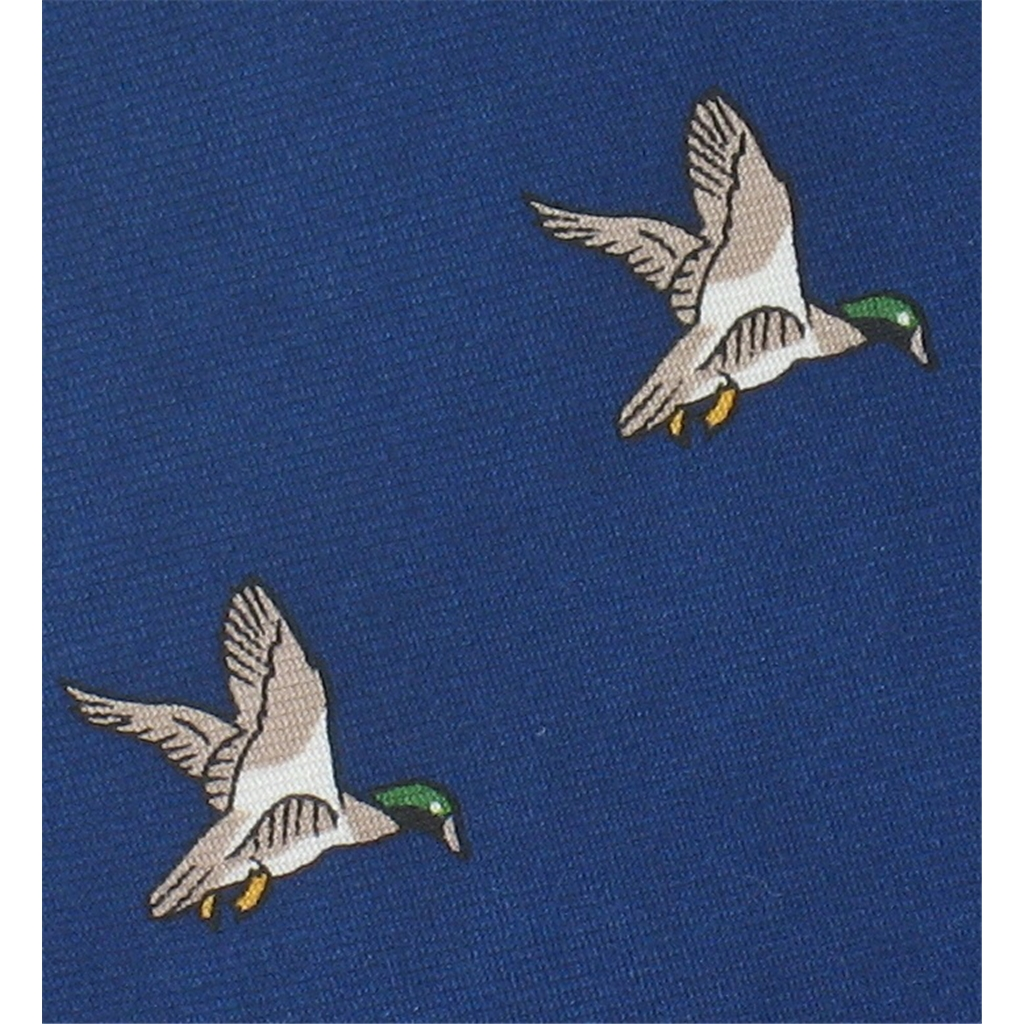 The Silk Tie Company - Navy Tie with Duck Design - 100% Silk