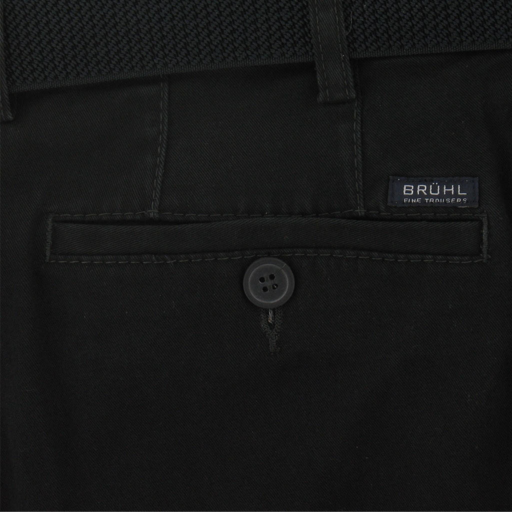 Bruhl Cotton Trouser - Black  - Montana - 182049 690