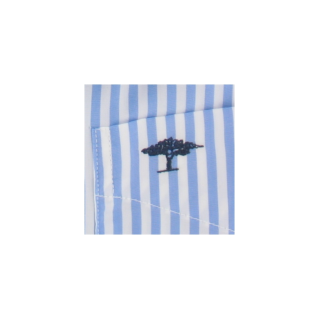 New 2017 Fynch-Hatton Shirt - Blue White Candy Stripe - Size M Only
