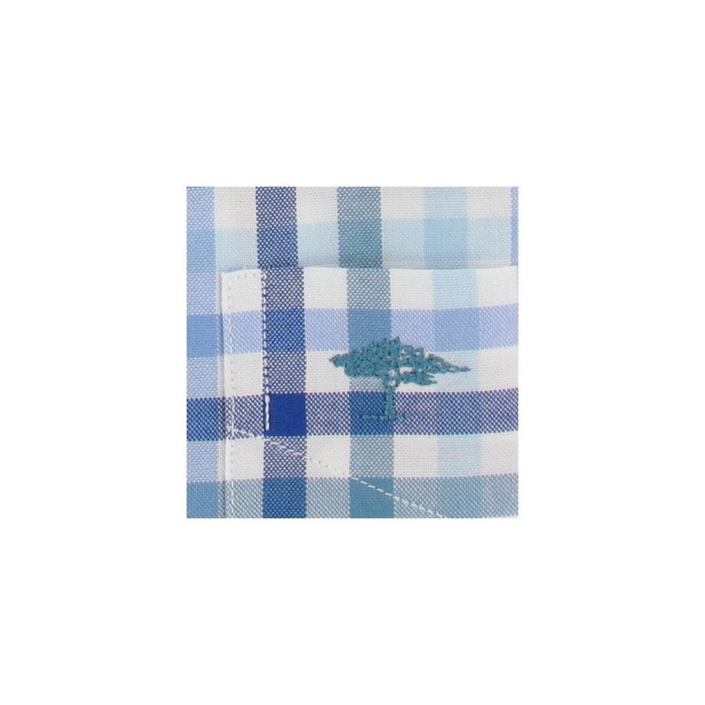 New Autumn 2016 Fynch-Hatton Shirt - Turquoise Blue Check
