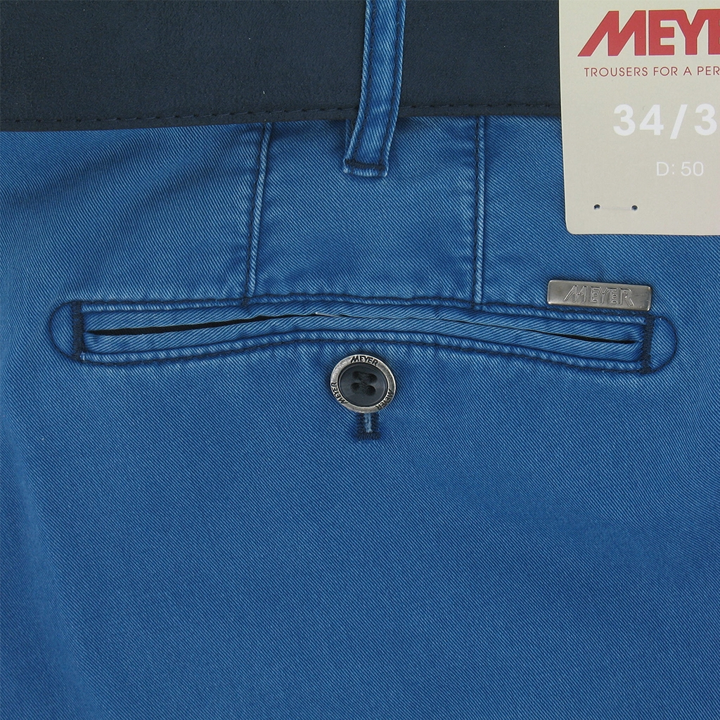 New 2017 Meyer Trousers Luxury Cotton - Ocean Blue - Online Exclusive