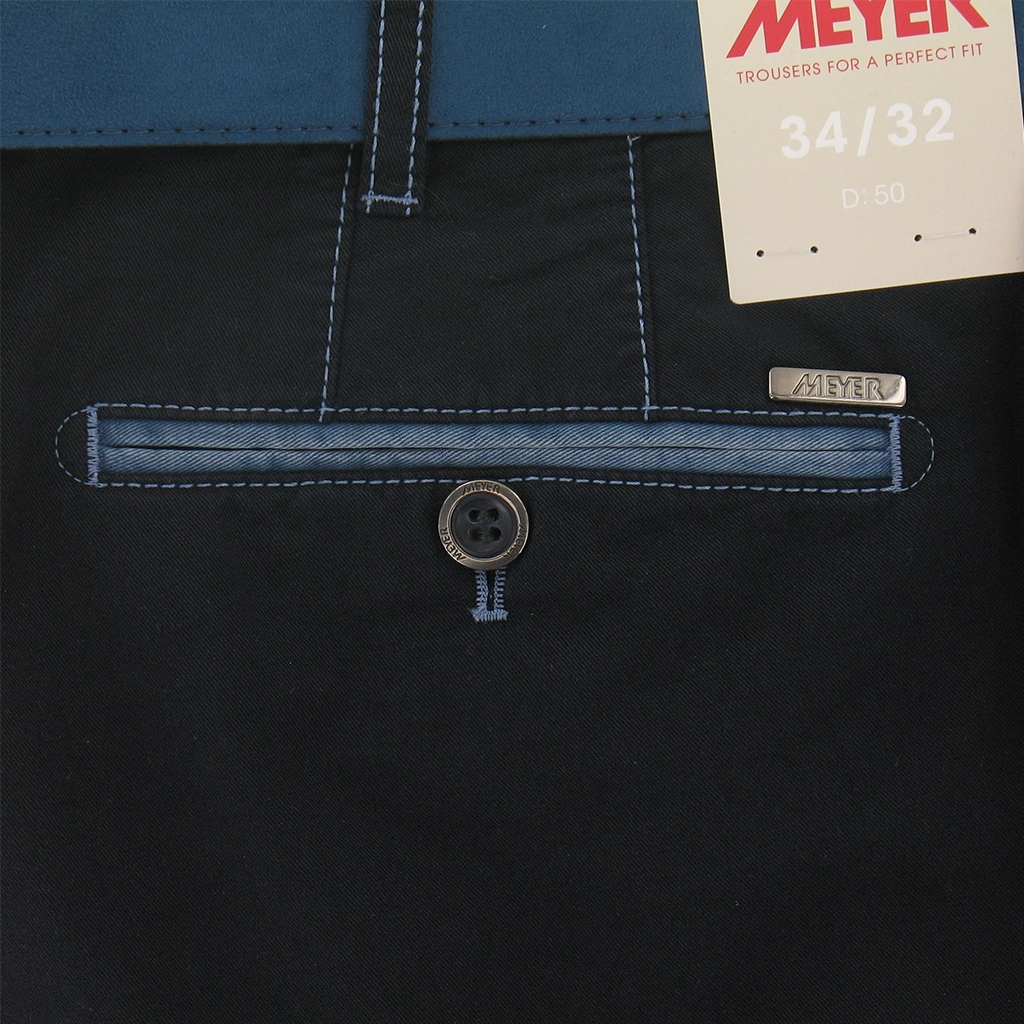 New 2017 Meyer Shorts Luxury Cotton - Navy