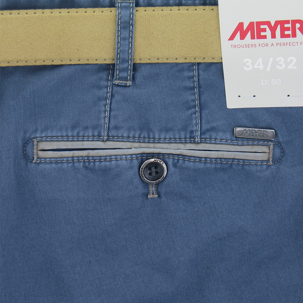New 2017 Meyer Shorts Luxury Cotton - Blue
