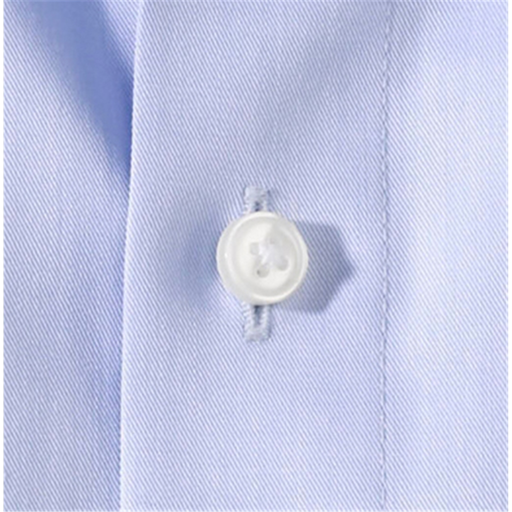 Olymp Modern Fit Shirt - Fine Twill with Cutaway Collar - Blue