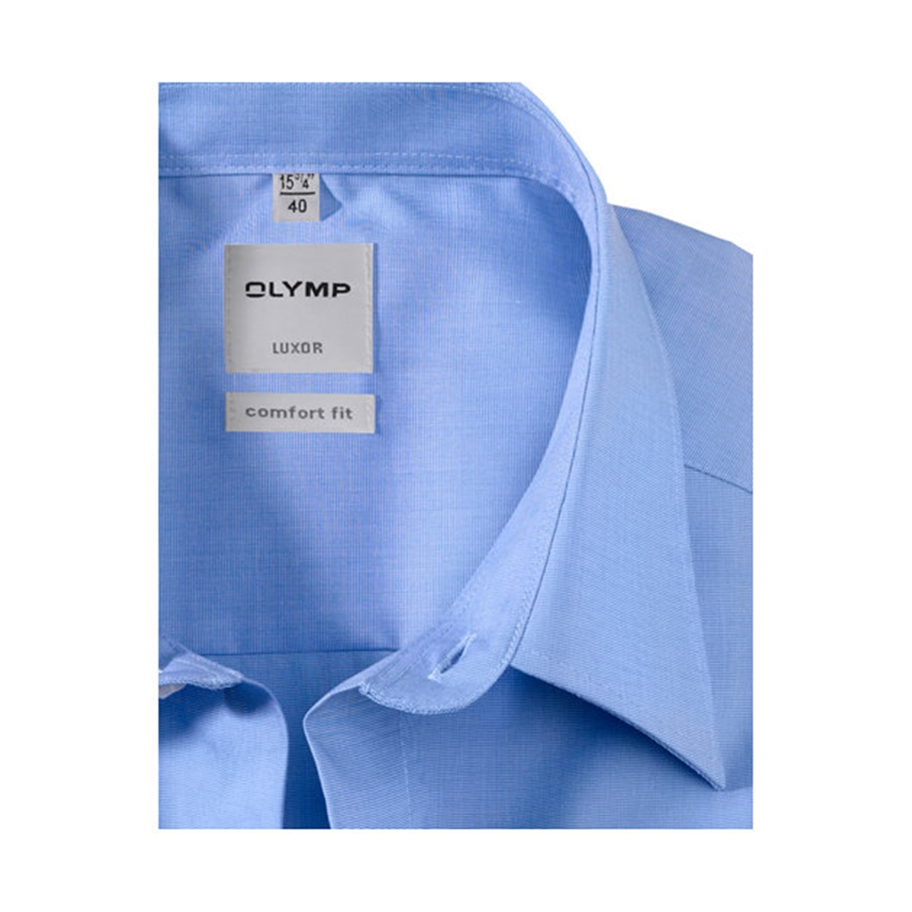 Olymp- Comfort Fit Short Sleeve Shirt - Blue - 0255 12 15
