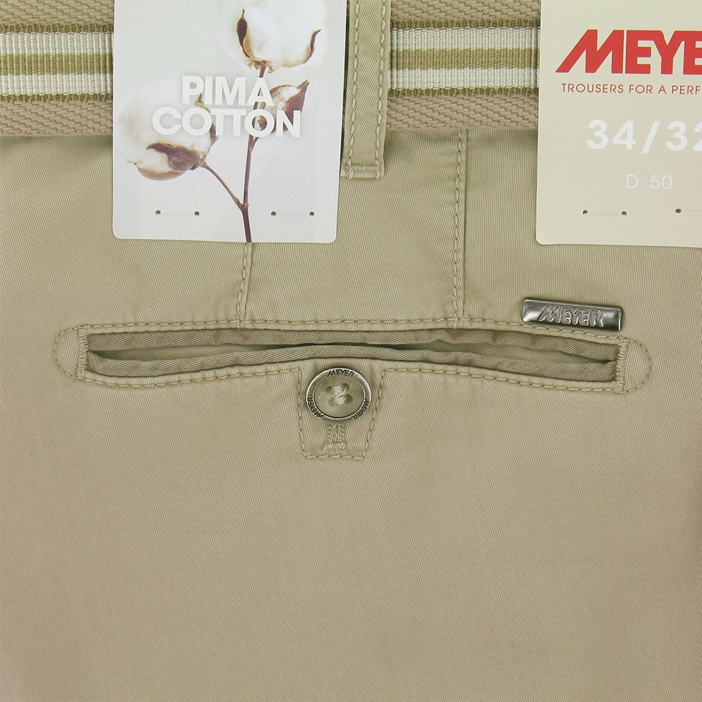Meyer Trousers Luxury Pima Cotton - Beige - Online Exclusive