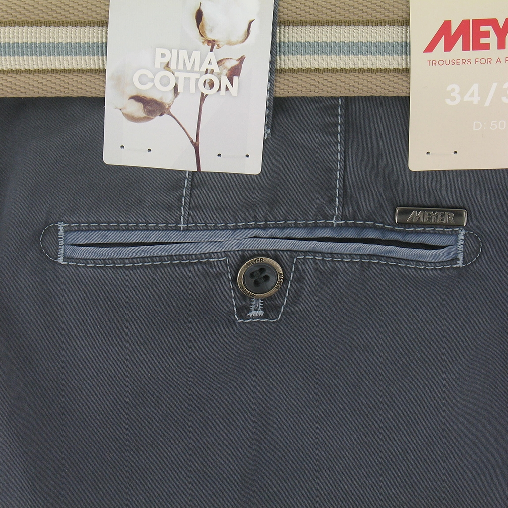 New 2017 Meyer Trousers Luxury Pima Cotton - Slate Blue - Online Exclusive