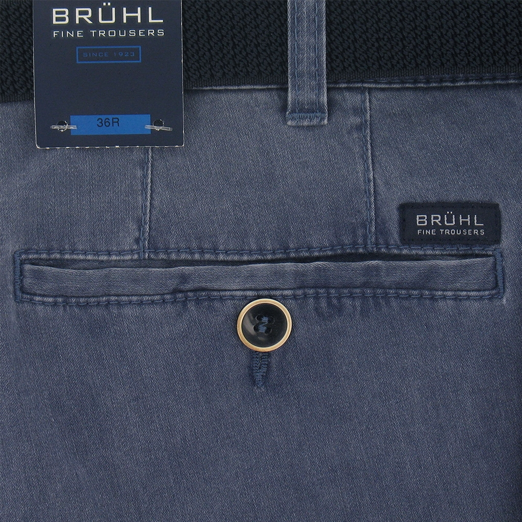 New 2017 Bruhl Washed Cotton Trouser Montana 182470 650 - Jeans Blue